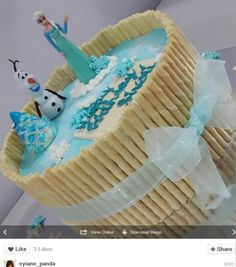 Frozen Party Food, Frozen Theme Cake, Frozen Themed Birthday Party, Elsa Birthday Party, 3rd Birthday Cakes, Girly Cakes, Frozen Chocolate, Cake Delivery, Themed Cakes