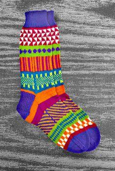 Socks - Hand knit - Wool - Unique Icelandic Design - Original design - Washable wool socks. 2.12. LizSox via Etsy.