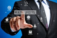 Healthy Lifestyle Concept on Interface Touch Screen - Photo