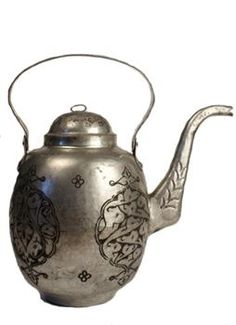 Turkish Tinned Copper Teapot