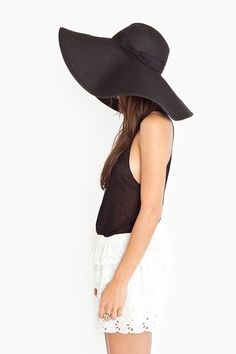 Love the floppy hat...and lace shorts