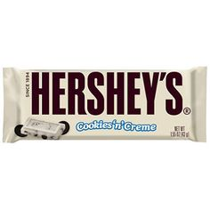 HERSHEY'S Cookies 'N Crème Candy Bar, White Creme with Cookie Bits, Ounce Bar (Pack of Ships same or next business day! White Chocolate Candy, Chocolate Cake, Chocolate Chocolate, Chocolate Truffles, Oreo, Hershey Cookies, 16 Bars, Cookies Et Biscuits, Toffee