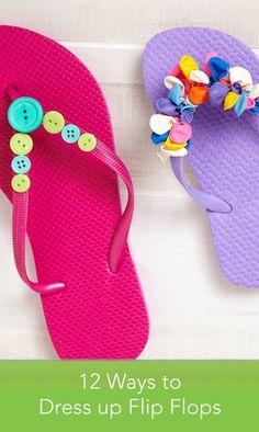 149f6199b635 Embellish your flip-flops for summer with our easy DIY decoration ideas.  Flip Flop