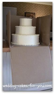 Box the cake: When transporting a wedding cake, how long will it stay fresh? My daughter is getting married out of state, it's about a 4 hr drive. We are thinking about