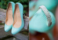 Aqua closed-toe platform Louboutin bridal heels with diamond embellishment on back of heel.something blue? Red Louboutin, Christian Louboutin Shoes, Fancy Shoes, Me Too Shoes, Glamorous Chic Life, Wedding Shoes, Aqua Wedding, Dream Wedding, Blue Nails