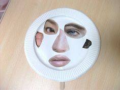 Easy-ish craft for storytime... (little extra legwork on the part of the librarian... finding face parts) Preschool Crafts for Kids*: Funny Face Paper Plate Mask Craft
