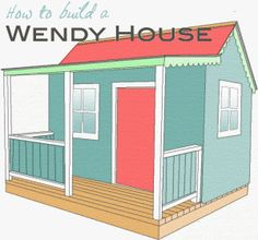 Wendy house project - I'm not sure I can say no to this one. (Shed Plans With Porch) Kids Playhouse Plans, Outside Playhouse, Backyard Playhouse, Build A Playhouse, Wooden Playhouse, Outdoor Playhouses, Playhouse Kits, Simple Playhouse, Girls Playhouse
