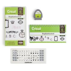 Cricut Digital Scrapbooking Sophisticated Cartridge  You will love utilizing the expressions, fringes, and textual styles to add class to your cards, home adornment, and scrapbook formats. $55 USA