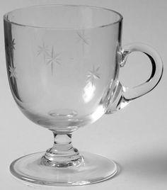 K--C G Quartex Crystal Star Dust Demitasse Cup Only