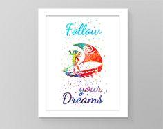 Nursery printable wall art, kids room decor, baby room watercolor decor, kids gift by GecleeArtStudio on Etsy Kids Room Wall Art, Wall Art Decor, Nursery Decor, Room Decor, Printable Pictures, Printable Quotes, Printable Wall Art, Geometric Art, Art For Kids