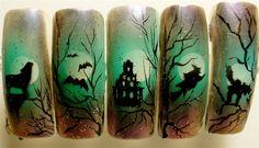 Halloween series by FreedaLatham - Nail Art Gallery nailartgallery.nailsmag.com by Nails Magazine www.nailsmag.com #nailart