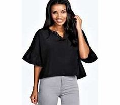 boohoo Lyndsey Angel Sleeve Studded V Neck Blouse - Statement angel sleeves add a boho edge to this blouse , giving your wardrobe that whimsical vibe. Style with spray-on skinny jeans , heeled ankle boots and a studded clutch bag . http://www.comparestoreprices.co.uk/blouses/boohoo-lyndsey-angel-sleeve-studded-v-neck-blouse-.asp