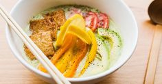 Stick to your New Year's resolutions and still slurp up ramen with this healthy, surprisingly delicious avocado-miso ramen from NYC's Mr. Taka Ramen.
