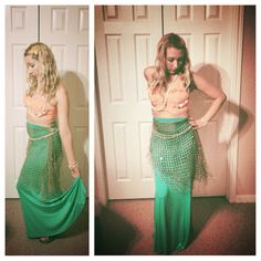 Mermaid Halloween costume DIY