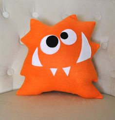 Nom Nom Monster Plush Pillow NEW DESIGN Monster Pillow by bedbuggs. $26.00, via Etsy.