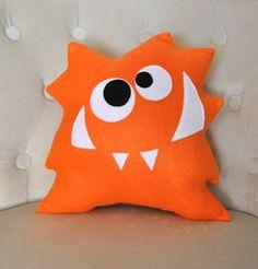 Nom Nom Monster Plush Pillow -NEW DESIGN- Monster Pillow- Anime Cartoon. via Etsy.