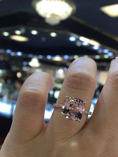 Up for sale is a beautiful 14K Rose Gold Natural Morganite and Diamond Double Under Halo Diamond Engagement Ring. Round Brilliant Diamond Total weight 0.60 Carats. Color F-G Clarity SI. Center Stone Cushion Cut 4.00 Carats Clarity: VS Color: Pink Specifications: -Model #: