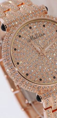 Diamonds are a girl's best friend http://www.thesterlingsilver.com/product/michael-kors-mk5756-43mm-gold-plated-stainless-steel-case-gold-tone-steel-bracelet-mineral-womens-watch/
