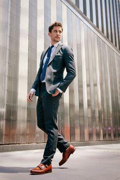 L.L. Bean Signature Wool Suit   J. Crew Ludlow Shirt   J. Crew Pocket Square, Tie, and Tie-Clip   Alfred Sargent Shoes (model: Bryce Draper)