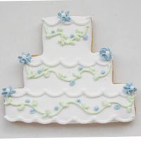 Wedding Cake Cookies - Great for a shower or other wedding event!