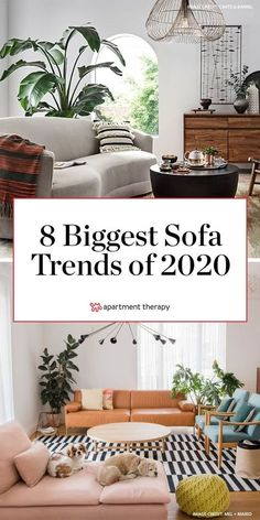 While velvet couches still seem to be reining supreme in many homes, there are some other trends popping up right now that you might want to consider if you are upgrading your living room sofa.  #sofatrends #sofaideas #livingroomcouch #livingroomsofa #livingroomideas #couchideas #designtrends #2020trends