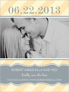 Stripes And Ribbons Save The Date