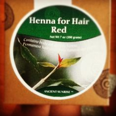 All natural Red Henna hair dye