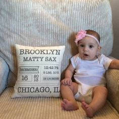 Custom Baby Pillow