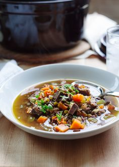 Prime Rib Beef and Lentil Soup - Leftover holiday indulgence transforms into nourishing soup.