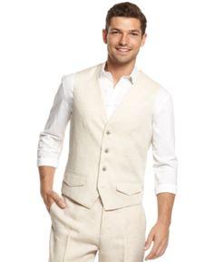 Tasso Elba Linen Vest $34.99 AT vintagedancer.com