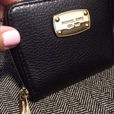 WEEKEND PRICE REDUCTION ⭐️Michael Kors  Wallet Gorgeous black leather wallet from Michael Kors! BRAND NEW! No scratches on gold-tone hardware and still has that fabulous LEATHER smell!!! Has three credit card slots, one coin pocket, and a pocket for your bills! Will come with care booklet! Price goes back ⬆️up to $90 Monday morning! Michael Kors Bags Wallets