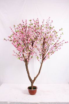 large artificial fake flower trees make in Guangzhou silk cherry blossom trees