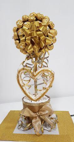 Selbstgemachter Ferrero Rocher Baum als Geschenk zur Goldenen Hochzeit!