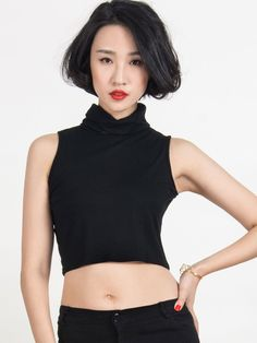 New at Lazaara the Black Cut Away High Neck Tight Crop Top for only  14,07 €  you safe  30%.  Available Options:  SIZE: One Size  COLOR: Black https://www.lazaara.com/en/tops/3287-black-cut-away-high-neck-tight-crop-top.html  #Lazaara #Amazing #Shopping #AmazingShopping #LazaaraAmazingShopping