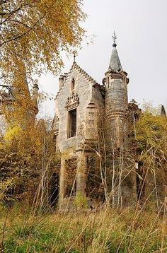 abandoned castle in Perthshire, Scotland