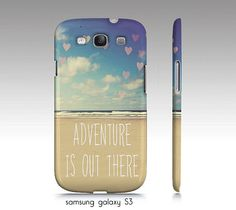 """Samsung galaxy S3, iphone 4,4s,5 case """"Adventure is out there"""" beach, ocean photography"""