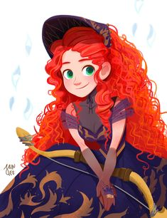 Disney my art fanart pixar brave merida jellypuffer Rapunzel Disney, Arte Disney, Disney Fan Art, Disney Style, Disney Love, Disney Films, Disney And Dreamworks, Disney Characters, Brave Merida