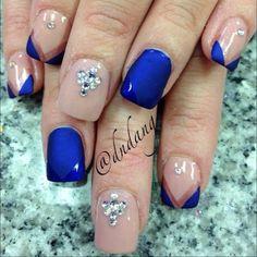 Elsa inspired nails