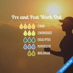 Pre and Post Work Out - Essential Oil Diffuser Blend #EssentialOilBlends