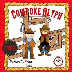 Fun craftivity with educational impact. Collect data, create a cowpoke, analyze data, write about it. First Grade Freebies, Kindergarten Freebies, First Grade Math, Kindergarten Activities, Second Grade, Fun Classroom Activities, Western Theme, Cowboy Theme, Comprehension Activities