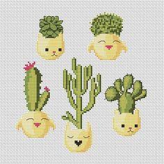 Cactus Cross Stitch Pattern PDF Cute Cross Stitch Succulents