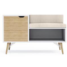 Kinsley Sectional Wood Storage Bench
