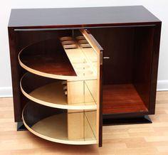 Spectacular Art Deco revolving Bar Cabinet is part of Art Deco Bar cabinet - Art Deco Furniture, Bar Furniture, Furniture Design, Furniture Storage, Diy Home Bar, Bars For Home, Diy Bar, Art Deco Bar, Bar Cart Decor