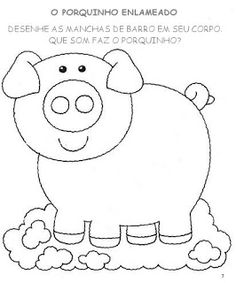 ♥ProfªAnanda♥: Atividades para Maternal Pig Crafts, Farm Crafts, Creative Bookmarks, 4 Kids, Children, Easy Coloring Pages, Pre Writing, Kids Learning, Hello Kitty