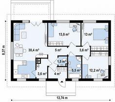 Проект дома Z241 S - план-схема 1