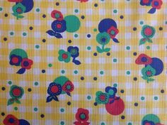 VTG 50s 60s cotton fabric gingham check retro daisy dressmaking quilt craft | eBay