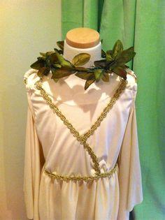 #Greek goddess #costume #laurelwreath  Embellishing store-bought costumes  www.feltsocute.wordpress.com