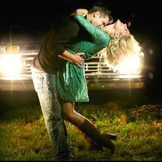 Engagement pictures: dance the night away::: love the idea of havin the truck lights on in the back <3