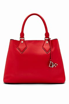 Carry on in style with the DVF Voyage Leather Carryall Tote