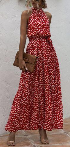 Vacation Halter Printed Sleeveless Dress - Vacation Halter Printed Sleeveless Dress Source by burgesnina - Fashion Mode, Fast Fashion, Skirt Fashion, Fashion Outfits, Womens Fashion, Fashion Online, Fashion Tips, Casual Dresses, Summer Dresses